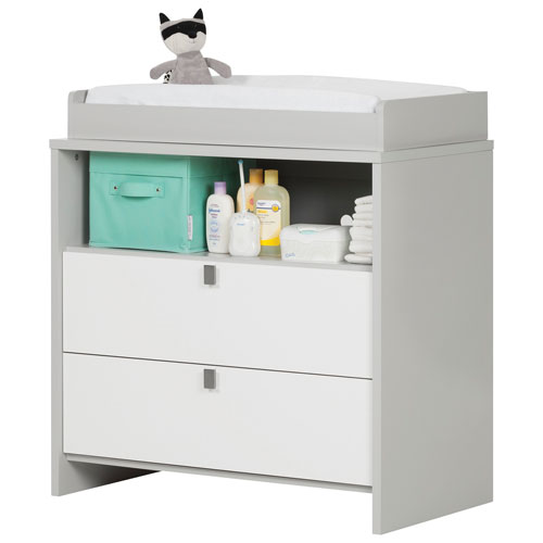 South Shore Cookie Changing Table/Dresser   Soft Gray And Pure White : Change  Tables   Best Buy Canada
