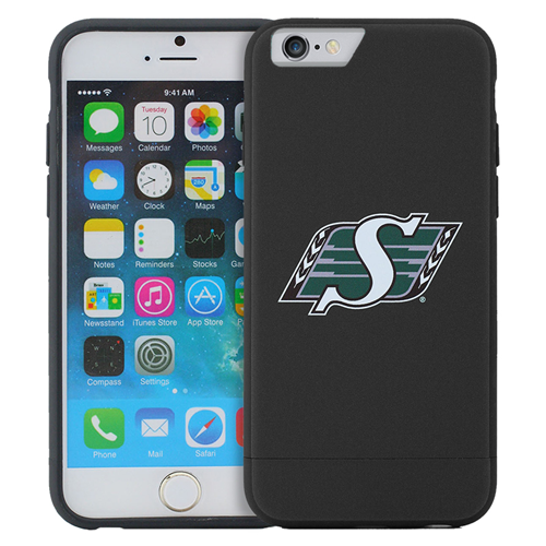 Caseco Saskatchewan Roughriders Lynx Slider Case - iPhone 6/6S - Black