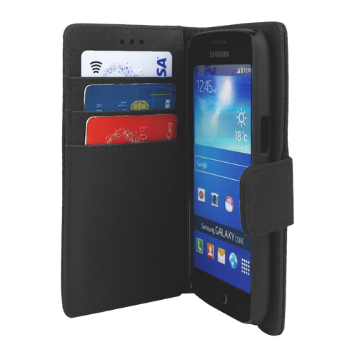 Caseco Wallet Case - For Samsung Galaxy Core Lte - Black