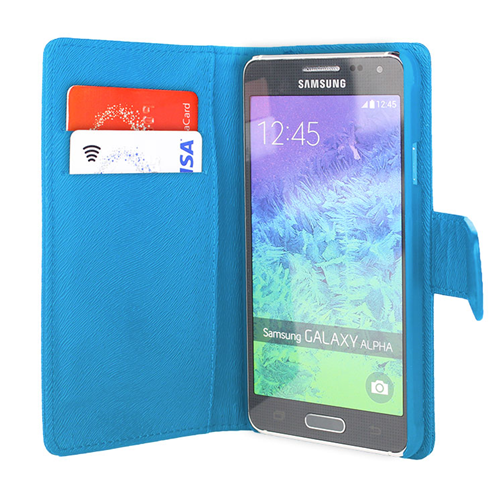 Caseco Wallet Case - For Samsung Galaxy Alpha ? Blue