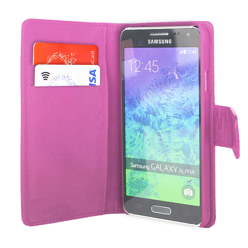 Caseco Wallet Case - For Samsung Galaxy Alpha ? Pink