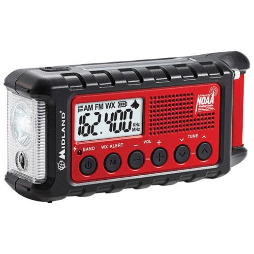 Radio d'urgence météo à manivelle de Midland (ER310)