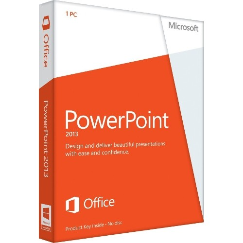 Microsoft Powerpoint 2013 Key Card Business Home Office Software