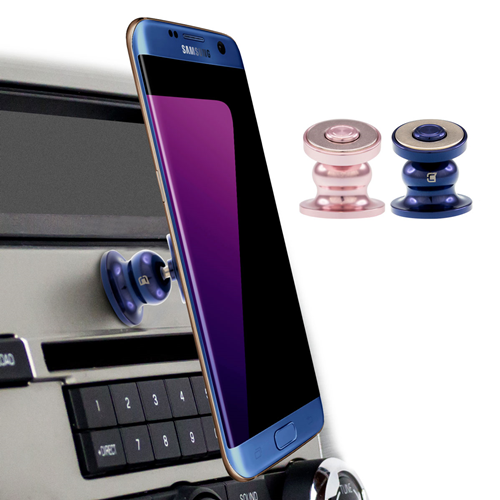 Caseco Core 360 Universal Magnetic Car Mount Phone Holder - Rose Gold/Blue
