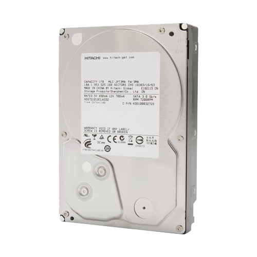 """HGST Deskstar 7K1000.C 1TB 7200 RPM 32MB Cache SATA 3.0GB/s 3.5"""" Internal Hard Drive"""