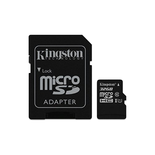 Kingston MicroSDHC Class 10 32GB Flash Memory Card