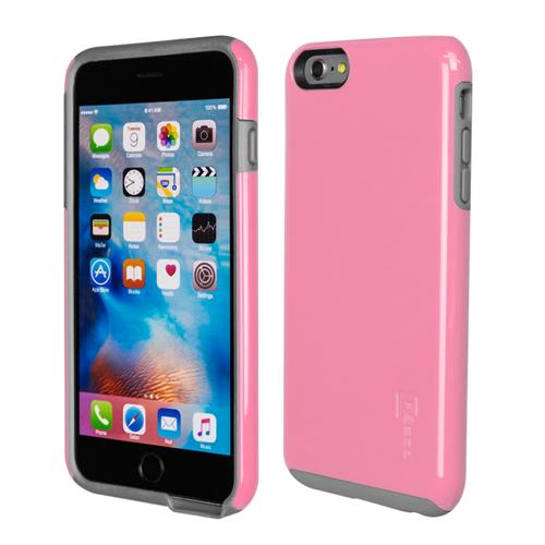 Caseco iPhone 6/6S Plus Flux Hybrid Custom Case - Pink/Grey
