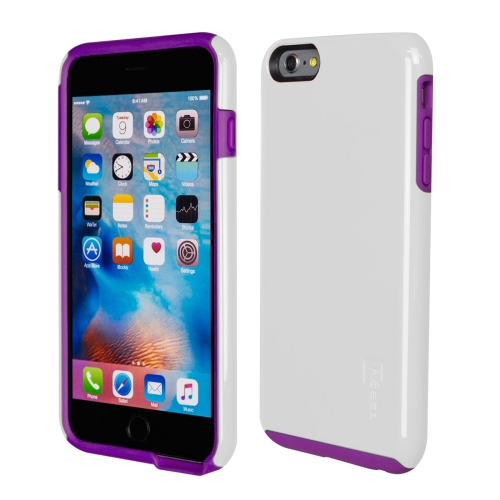 Caseco iPhone 6/6S Plus Flux Hybrid Custom Case - White/Purple