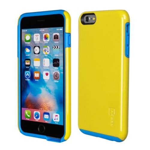 Caseco iPhone 6/6S Plus Flux Hybrid Custom Case - Yellow/Blue