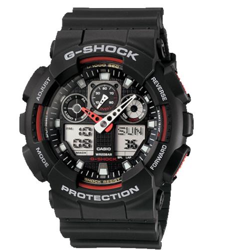 437231324f7d Casio G-Shock Black Resin Strap Men s Watch GA100-1A4   Men s ...