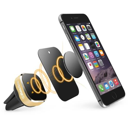 BasAcc Universal Magnetic Car Air Vent Phone Holder, Gold