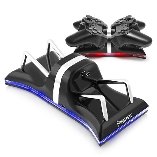 Dual Charging Station compatible with Sony PS3 Controller, Black