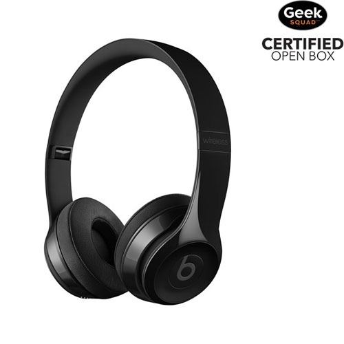 Beats by Dr. Dre Solo3 On-Ear Sound Isolating Bluetooth Headphones - Gloss Black - Open Box