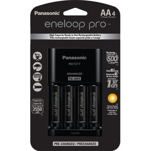Eneloop Pro Charger + 4AA 2550mAh rechargeable