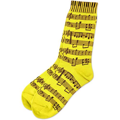 Neon Yellow Socks with Black Sheetmusic