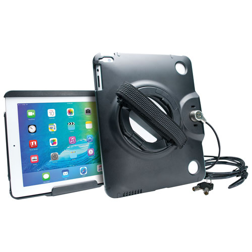 CTA Digital Anti-Theft Case with Built-In Grip Stand for iPad & iPad Air