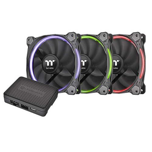 Thermaltake RIING 12 RGB (CL-F049-PL12SWA) Radiator 3 Pack Fan w/LED Software Control