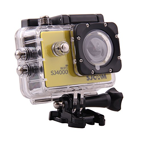SJCAM Original SJ4000 WiFi Action Camera 12MP 1080P H.264 1.5 Inch 170 Wide Angle Lens Waterproof Diving HD Camcorder (Yellow)