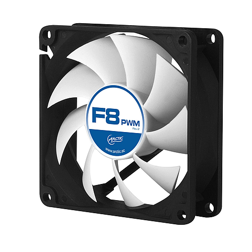 Arctic Cooling F8 PWM Rev2 - 80mm Fluid Dynamic Bearing Case Fan