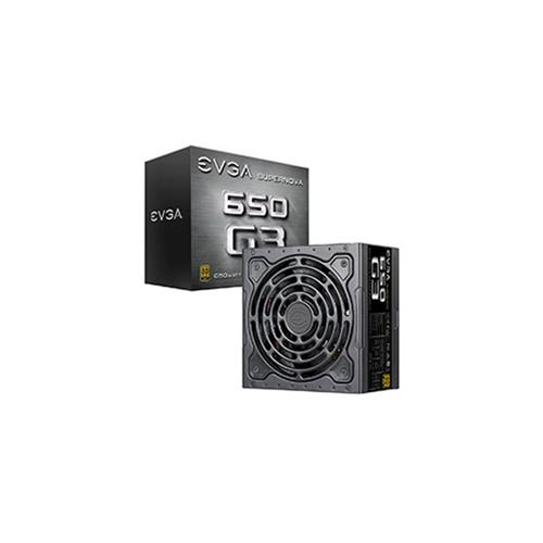 EVGA SuperNOVA 650 G3 80 Plus Gold 650W Full Modular Eco Mode w/ HDB Fan Compact Size Power Supply