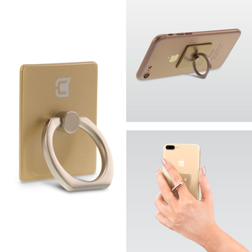 Caseco Ring - Universal Phone Holder and Kickstand ? Gold