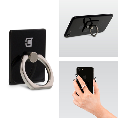 Caseco Ring - Universal Phone Holder and Kickstand ? Black