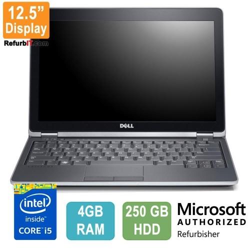 "Dell Latitude E6220 Laptop, 12.5"" Display, Intel Core i5, 4GB RAM, 250GB HDD, Windows 10 Home- Refurbished"