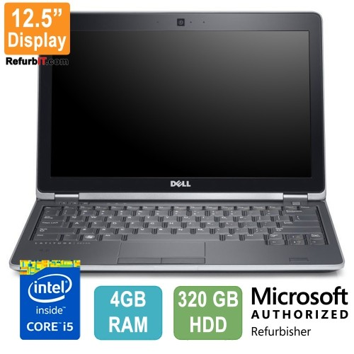 "Dell Latitude E6230 Laptop, 12.5"" Display, Intel Core i5, 4GB RAM, 320GB HDD, Windows 10 - Refurbished"