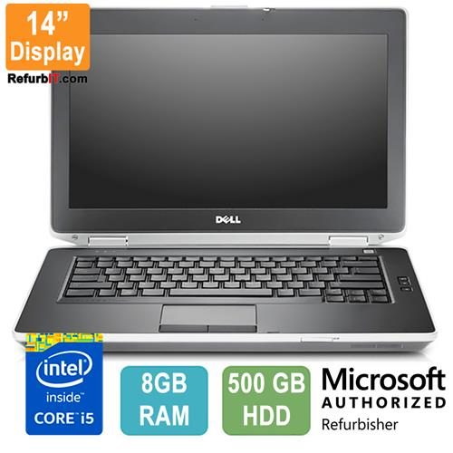 "Dell Latitude E6430, 14"" Display, Intel Core i5, 8GB RAM, 500GB HDD, DVD-ROM, Windows 10 - Refurbished"