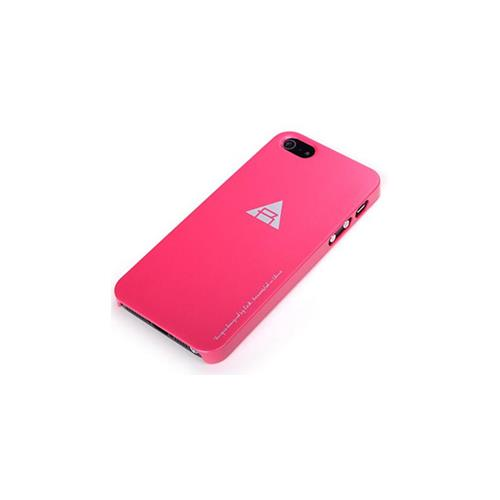 Rock Nakedshell Series Case With Macth Color Screen Protector for Apple iPhone 5 / 5S - Ross Red