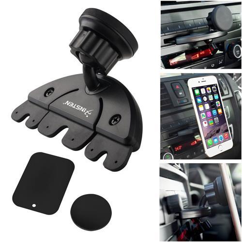 Insten Universal Car CD Slot Phone Magnetic Holder, Black