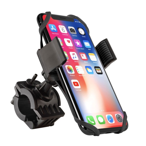 Insten Universal Bicycle/Motorcycle Phone Holder with Secure Grip, Black