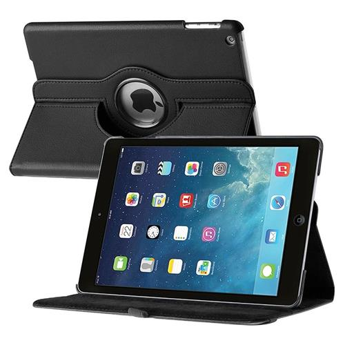 Insten 360-degree Swivel Stand Leather Case compatible with Apple iPad Air, Black
