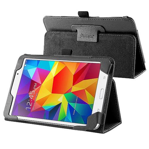 Insten Stand Leather Case compatible with Samsung Galaxy Tab 4 7.0 T230 / Nook, Black