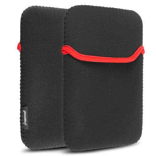Insten Tablet Sleeve, 7 inch, Black / Red