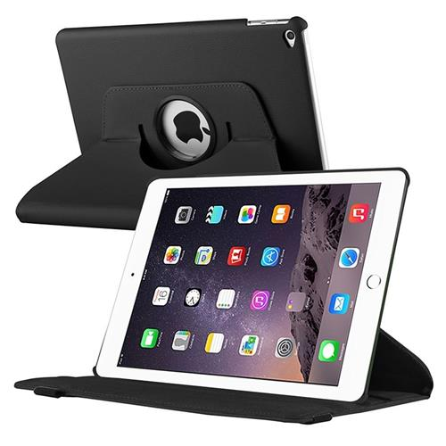 Insten 360-degree Swivel Leather Case compatible with Apple iPad Air 2, Black