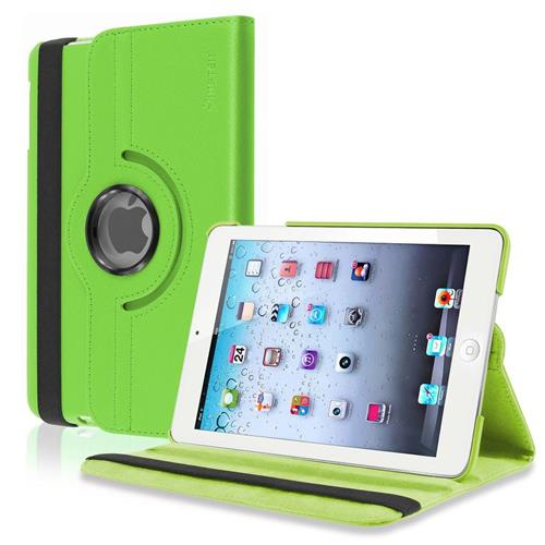 Insten 360-degree Swivel Stand Leather Case Compatible with Apple iPad Mini1/2/3, Green