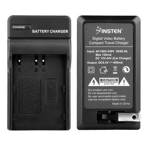 Insten Compact Battery Charger Set compatible with Nikon EN-EL3