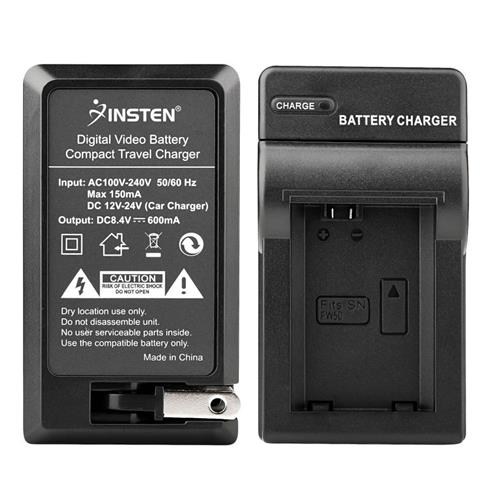 Insten Compact Battery Charger Set compatible with Sony NP-FW50