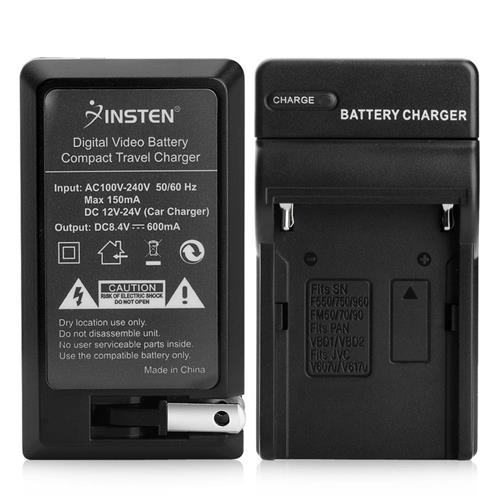 Insten Compact Battery Charger Set compatible with Sony NP-FM500H