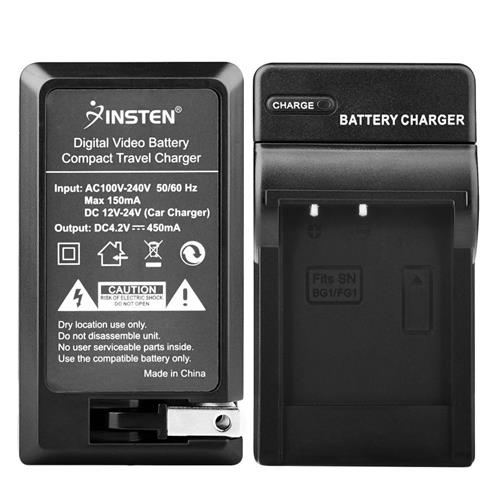 Insten Compact Battery Charger Set compatible with Sony NP-BG1