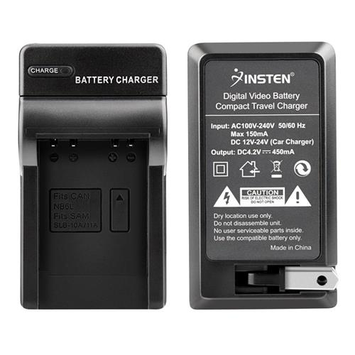 Insten Compact Battery Charger Set compatible with Canon NB-6L/ S120/ SX510 HS/ SX170 IS