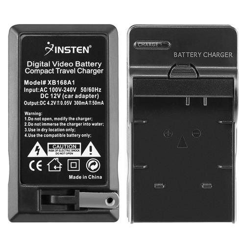 Insten Compact Battery Charger Set compatible with Panasonic CGA-S007 / DMW-BCD10