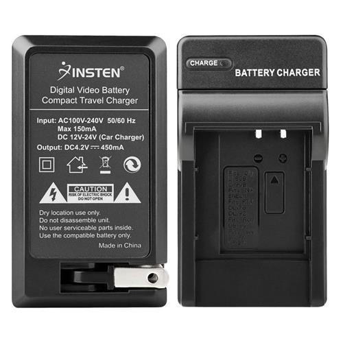 Insten Compact Battery Charger Set compatible with Olympus Li-50B