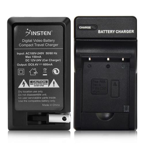 Insten Compact Battery Charger Set compatible with Nikon EN-EL19