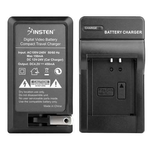 Insten Compact Battery Charger Set compatible with Canon NB-11L