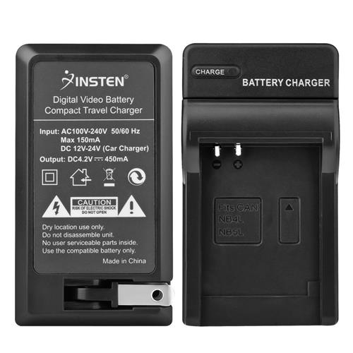 Insten Compact Battery Charger Set compatible with Canon NB-4L