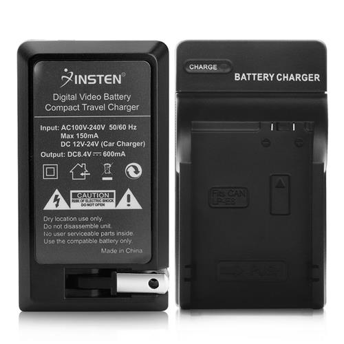 Insten Compact Battery Charger Set compatible with Canon LP-E8