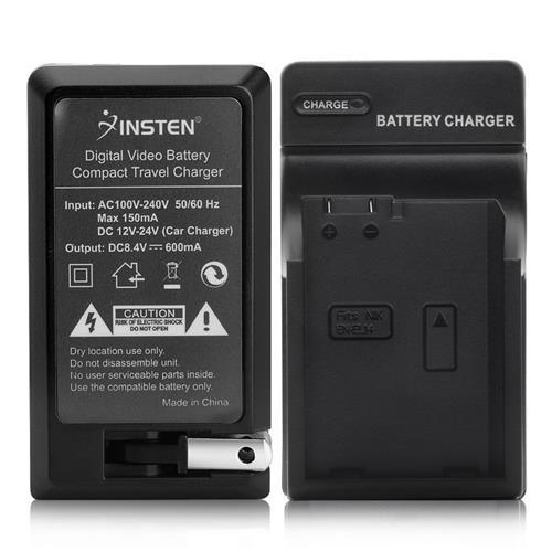 Insten Compact Battery Charger Set compatible with Nikon EN-EL14
