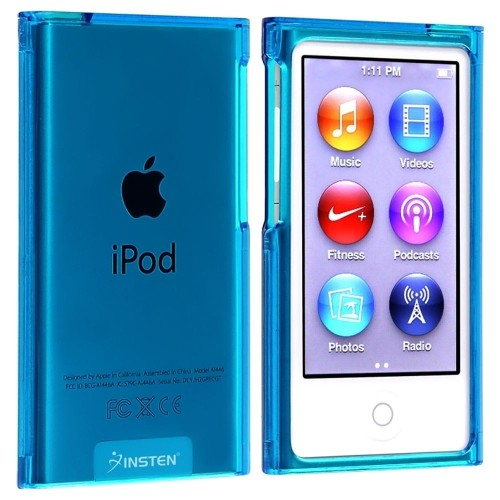 Insten Snap-in Slim Case compatible with Apple iPod nano 7th Generation, Clear Blue